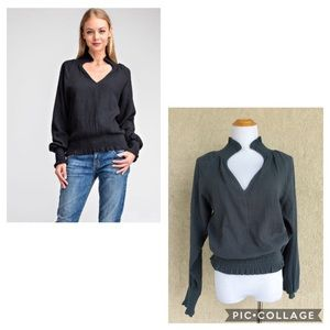 Glam  gauze L/S top